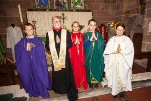 Colourful vestments